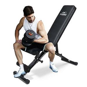 トレーニングベンチ 280kgまで 折りたたみ ウェイト ホームジム FLYBIRD Weight Bench, Adjustable Strength Training Bench for Full Body Workout with Fast Folding