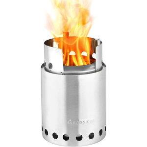 コンパクト 薪ストーブ 軽量 アウトドア キャンプ 14cmx13cm Solo Stove Titan - 2-4 Person Lightweight Wood Burning Stove. Compact Camp Stove Kit for Backpacking, Camping, Survival. Burns Twigs - No Batteries or Liquid Fuel Canisters Neede