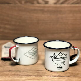 キャンピングコーヒーマグ 2個セット エナメル ホーロー アウトドア キャンプ Gentlemen's Hardware Sportsmans Camping Enamel Travel Mug
