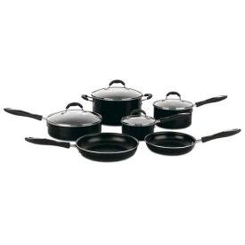 クイジナート フライパン 鍋 10点セット テフロン加工 フッ素樹脂 Cuisinart Advantage 10-Piece Nonstick Cookware Set, Black 55-10BK