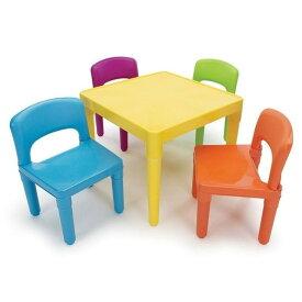 トットチュータース 子供用テーブル イス4点セット Tot Tutors Kids' Table and 4 Chair Set, Plastic TC911