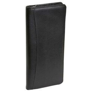 革製 パスポートケース ジッパー付 カバー ホルダー レザー クレジットカード クレカ ブラック 黒 ロイズ ROYCE Executive Zippered Travel Document Passport Case and Credit Card Wallet, Black