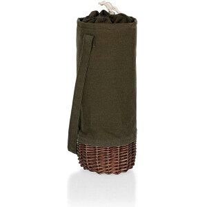 ワインボトルバスケット 1本用 ピクニックタイム Picnic Time - A Picnic Time Brand 201-00-140-000-0 Malbec Insulated Canvas and Willow Wine Bottle Basket Coolers/Totes