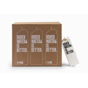 紙パック 飲料水 1.0L 12本入 リサイクル可能 1 LITER 12 PACK BOXED WATER