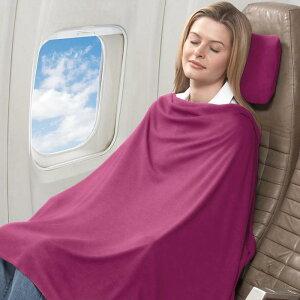 トラベル コンフォート セット ピンク Travel Comfort Set Pink 旅行などに快適ブランケット 枕 膝掛け
