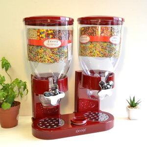 ゼブロ デュアルドライフードディスペンサー レッド Zevro Dual Dry Food Dispenser, Red GAT203/KCH-06125