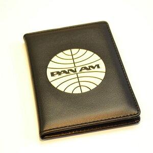 パンナム パスポートカバー ブラック Pan Am Passport Cover Black - White Logo 37SP08BLK/VW【ポスト投函】【代引不可】