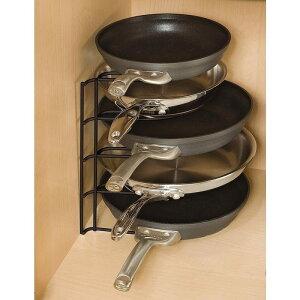 クックウェアスタンド 鍋 収納上手 フライパン置き Rubbermaid 1H4209bla Kitchen Pan/Lid Organizer, Black Organizers, Drawer