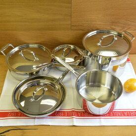 クイジナート フライパン 鍋 10点セット IH不可 Cuisinart Chef's Classic Stainless 10-Piece Cookware Set 77-10