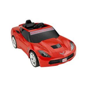 【組立要】フィッシャープライス コルベット スティングレイ 電動自動車 12Vバッテリー付 対象年齢3才〜 電気自動車 電動カー Fisher-Price Power Wheels Corvette Stingray 12-Volt Battery Powered Ride-On, Red
