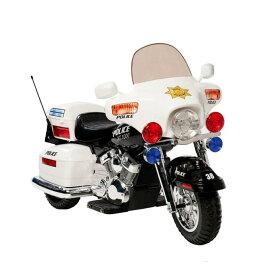 【組立要】キッドモーターズ 警察のオートバイ 12Vバッテリー付 対象年齢5〜9才 電動カー Kid Motorz Police Motorcycle 12-Volt Battery-Powered Ride-On