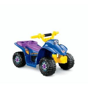 フィッシャープライス リル・クワッド 青 電動自動車 6Vバッテリー付 対象年齢2〜6才 電気自動車 電動カー Fisher-Price Power Wheels Lil' Quad 6-Volt Battery-Powered Ride-On