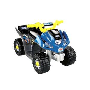 フィッシャープライスパワーホイール バットマン 電動自動車 6Vバッテリー付 電気自動車 電動カー Fisher-Price Power Wheels Batman Lil' Quad 6-Volt Battery-Powered Ride-On