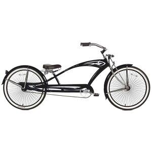 ビーチクルーザーバイク 自転車 26インチ 【組立要】 12才以上 Micargi GTS Beach Cruiser Bike, Black Puma, 26-Inch