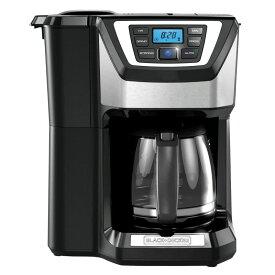 ブラック&デッカー 12カップ コーヒーメーカー 豆挽き付 Black & Decker CM5000B 12-Cup Mill and Brew Coffeemaker 家電
