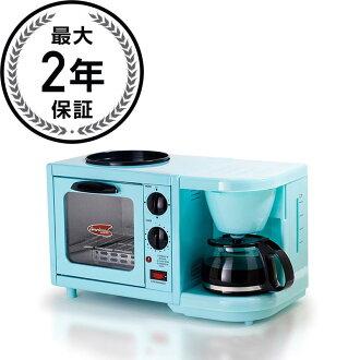 早餐 3 件套的咖啡机烤面包机烤箱热板 MaxiMatic 中 1 早餐烤面包机烤箱/平底锅/咖啡设备