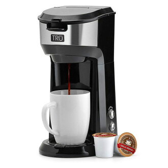 Coffee maker single serve Tru CM-1177 Single Serve Brew System, Black