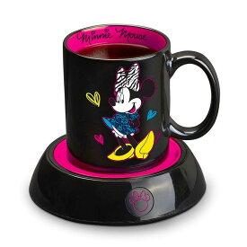 ディズニー ミニー マグウォーマー Disney DMG18 Minnie Mouse Mug Warmer, Black 家電