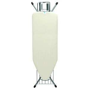 ブラバンシア アイロン台 高さ調節可 Brabantia Ironing Board with Steam Iron Rest and Linen Rack, Size C, Wide - Ecru Cover