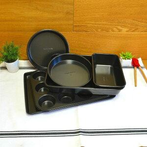 ベイクウェア 6点セット マフィン ケーキパン ローフパン ベーキングシート カルファロン Simply Calphalon Nonstick 6-Piece Bakeware Set IB0601A