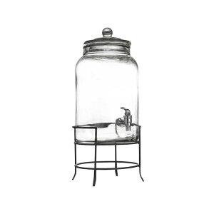 ドリンクサーバー ガラス ドリンクディスペンサー 10L ワイヤースタンド付 レストラン カフェ ホテル 2.75 Gallon Montgomery Glass Beverage Dispenser with Metal Stand 494210942GB