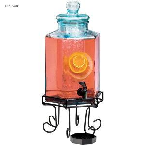 ドリンクサーバー ガラスドリンクディスペンサー 7.5L アイスチャンバー ワイヤースタンド付 レストラン カフェ ホテル Cal-Mil 1111 2 Gallon Octagonal Glass Beverage Dispenser with Wire Base and Ice Chamber 211111