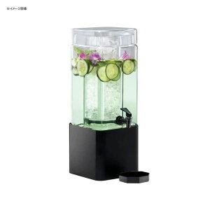 ドリンクサーバー スクエア型 ガラスドリンクディスペンサー 5.6L アイスチャンバー メタルスタンド付 レストラン カフェ ホテル Cal-Mil 1112-1-13 1.5 Gallon Mission Square Glass Beverage Dispenser with Black M