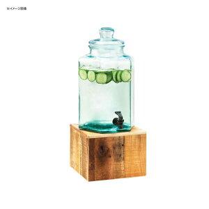 ドリンクサーバー ガラスドリンクディスペンサー 7.5L 木製スタンド付 レストラン カフェ ホテル Cal-Mil 3422-2 2 Gallon Vintage Glass Beverage Dispenser with Wooden Base 21134222