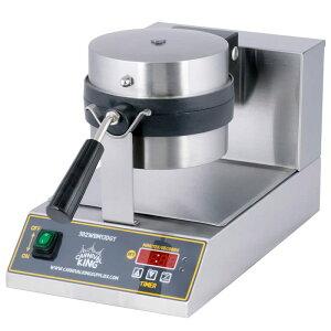 ベルギーワッフルメーカー 業務品質 カーニバルキング デジタルタイマー付 温度調節可能 ラウンド型 フリップ式 Carnival King WBM13DGT Non-Stick Belgian Waffle Maker with Digital Timer and Temperature Controls 家