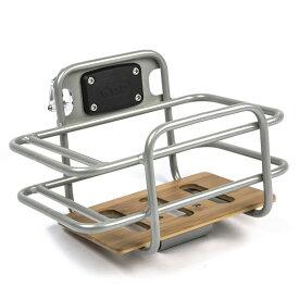 ロードバイク用 バスケット 前かご 自転車 クランプ径22.0〜31.8mmに適合 アルミ バンブー竹 PDW Task Basket