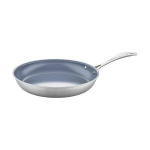 """ツヴィリング J.A.ヘンケルス ステンレス セラミックコート フライパン 30cm IH対応 PFOAフリー PTFEフリー ZWILLING Spirit 3-ply 12"""" Stainless Steel Ceramic Nonstick Fry Pan"""