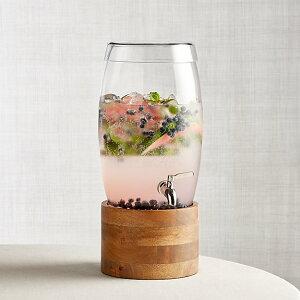 ドリンクサーバー スタンド付 ガラス オレゴン ディスペンサー ステンレス蛇口 木 大理石 10L レストラン カフェ ホテル Oregon Drink Dispenser