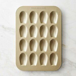 マドレーヌ型 16個 ゴールド セラミックコーティング 食洗機対応 ウイリアムズ・ソノマ アメリカ製 Williams Sonoma Goldtouch Nonstick Madeleine Plaque Pan