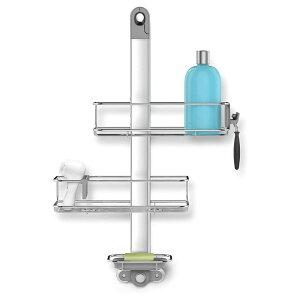 シャワーキャディー ラック 調節可能 2段 ソープディッシュ シェーバー 歯ブラシ ホルダー ステンレス お風呂 浴室 シンプルヒューマン simplehuman EMW6298194, Adjustable, Silver Stainless Steel