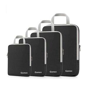 トラベルバッグ 4サイズセット パッキング 仕分け バッグインバッグ 旅行 Gonex Compression Packing Cubes Set, Expandable Packing Organizers 4pcs