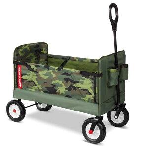 3 in 1 オフロード ワゴン 最大68kg 迷彩柄 ベンチ 子供 アウトドア キャリーカート Radio Flyer 3-In-1 Off-Road EZ Fold Camo Wagon