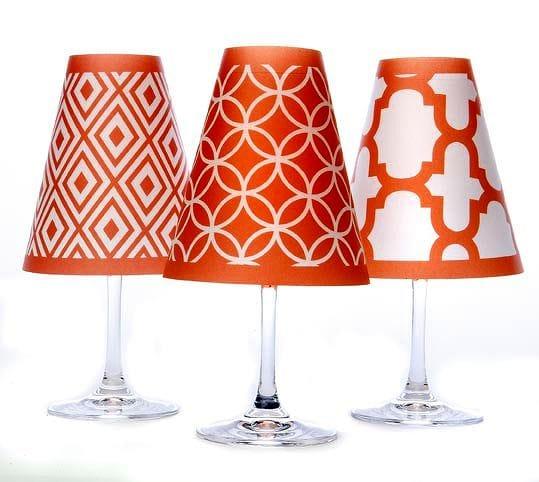 ディポッター ワイングラスシェード バルセロナ トリオ - フィエスタ・オレンジ 6点セットdi Potter Barcelona Trio - Fiesta Orange