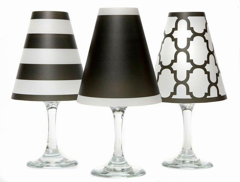 ディポッター ワイングラスシェードナンタケット トリオ - ブラック 6点セットdi Potter Wine shades Nantucket Trio - Black
