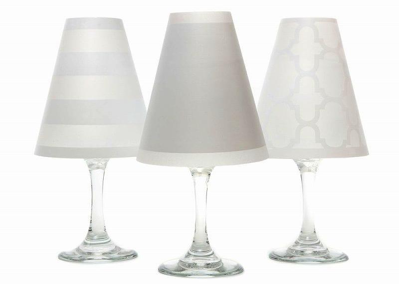 ディポッター ワイングラスシェードナンタケット トリオ - ホワイト 6点セットdi Potter Wine shades Nantucket Trio - White