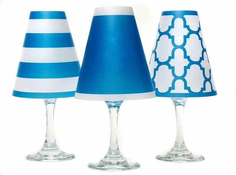 ディポッター ワイングラスシェードナンタケット トリオ - アイル・ブルー 6点セットdi Potter Wine shades Nantucket Trio - Isle Blue