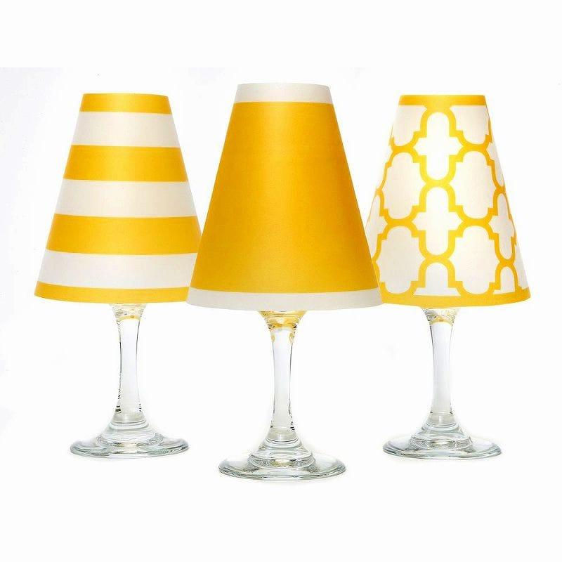 ディポッター ワイングラスシェードナンタケット トリオ - ゴールデン・イエロー 6点セットdi Potter Wine shades Nantucket Trio - Golden Yellow
