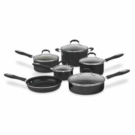 クイジナート フライパン 鍋 11点セット 黒 Cuisinart 55-11 Advantage Non-Stick 11-Piece Cookware Set Black