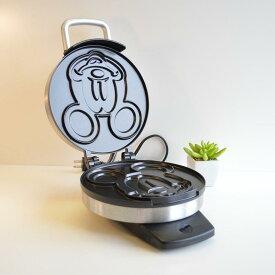 ディズニー クラシック ミッキーマウス ワッフルメーカー Disney DCM-1 Classic Mickey Waffle Maker, Brushed Stainless Steel 家電