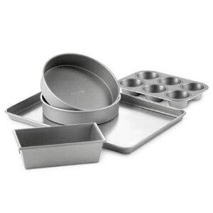 カルファロン ケーキ型 マフィン型 5点セット Calphalon 5-pc. Nonstick Nonstick Bakeware Set Gray 1826026