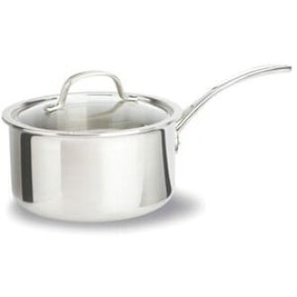 Calphalon 2.3 l with a saucepan lid with one hand Pan Calphalon Tri-Ply Stainless Steel Sauce Pan with Cover 2-1 / 2-Quart 1767982