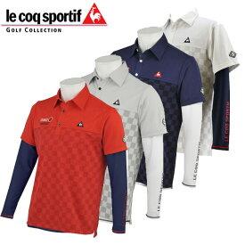 ルコック ゴルフウェア 半袖 ポロシャツ + 長袖インナー セット / QGMPJA04W 20sspz