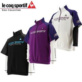 ルコック ゴルフ ウェア メンズ 3WAY 半袖シャツ + 長袖インナーシャツ セット / QGMOJL53W 19fwcz