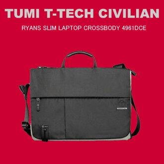 트미 TUMI T-TECH CIVILIAN 4961 DCE 라이안즈스림・랩탑・크로스 보디 숄더백 블랙 아이스