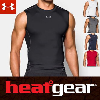 Under Armour heat gear armor compression tank top 1257469 mens T shirts (sleeveless sleeveless collarless) ARMOUR SHORT SLEEVE