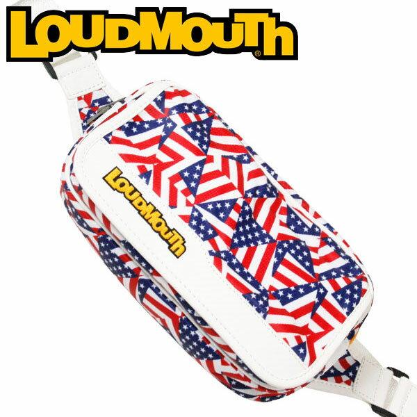 ラウドマウス ゴルフ ショルダーポーチ LM-SP0001 (031 フラガデリック) / LOUDMOUTH GOLF SHOULDER POUCH / 031 FLAGADELIC メンズ レディース